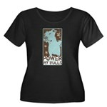Pit Power Women's Plus Size Scoop Neck Dark T-Shir