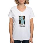 Pit Power Women's V-Neck T-Shirt