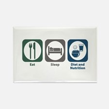 Eat Sleep Diet and Nutrition Rectangle Magnet
