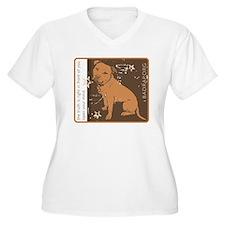 Open Your Mind Women's Plus Size V-Neck T-Shirt