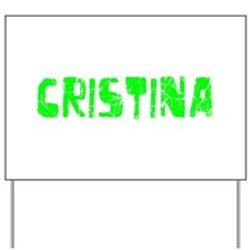 Cristina Faded (Green) Yard Sign