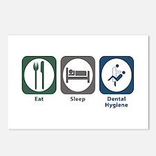 Eat Sleep Dental Hygiene Postcards (Package of 8)