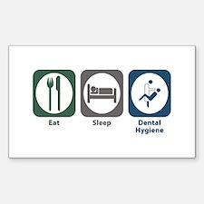 Eat Sleep Dental Hygiene Rectangle Decal