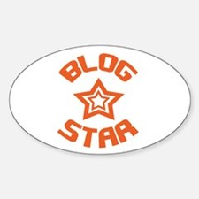 Blog Star Oval Decal