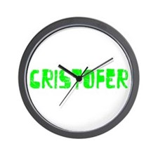 Cristofer Faded (Green) Wall Clock