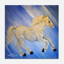 Blue thunder horse Tile Coaster