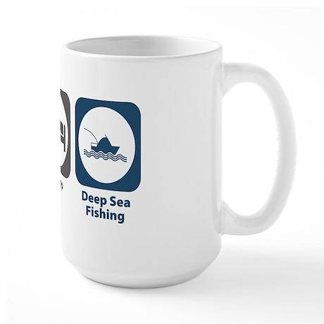 Eat Sleep Deep Sea Fishing Large Mug