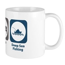 Eat Sleep Deep Sea Fishing Mug