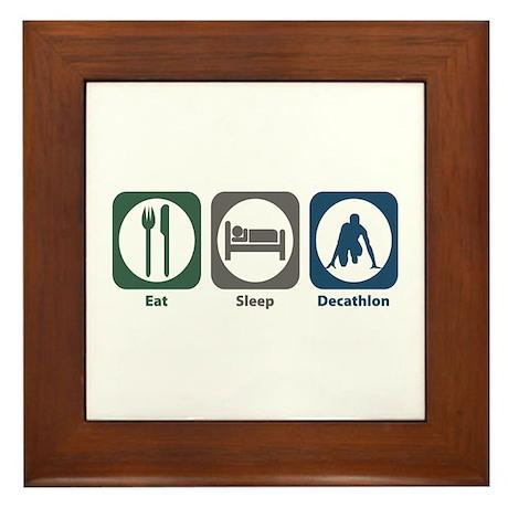 Eat Sleep Decathlon Framed Tile
