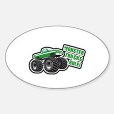 Green Monster Truck Oval Decal