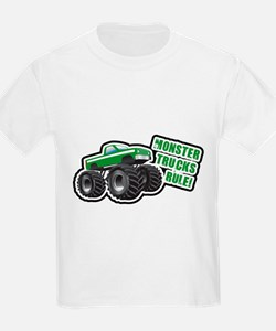 Green Monster Truck T-Shirt