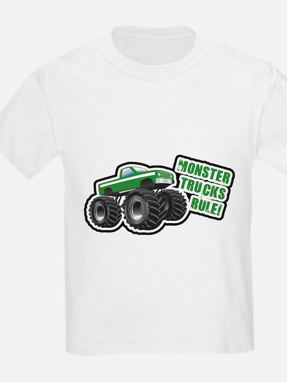 Green Monster Truck T-Shirt