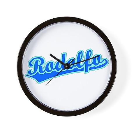 Retro Rodolfo (Blue) Wall Clock