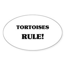 Tortoises Rule Oval Decal