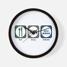 Eat Sleep Debate Wall Clock
