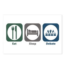Eat Sleep Debate Postcards (Package of 8)