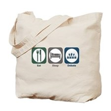 Eat Sleep Debate Tote Bag