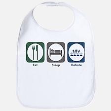 Eat Sleep Debate Bib