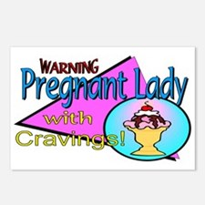 Pregnant Lady Cravings Postcards (Package of 8)