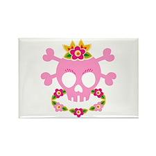 Hawaiian Pirate Skull Rectangle Magnet