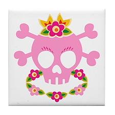 Hawaiian Pirate Skull Tile Coaster