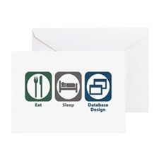 Eat Sleep Database Design Greeting Card