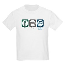 Eat Sleep Database Design T-Shirt