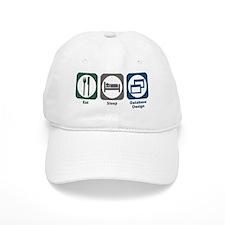 Eat Sleep Database Design Baseball Cap