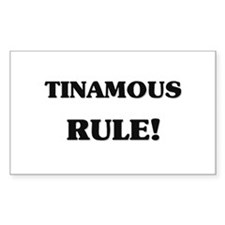 Tinamous Rule Rectangle Decal