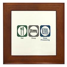 Eat Sleep Data Processing Framed Tile
