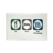 Eat Sleep Data Processing Rectangle Magnet
