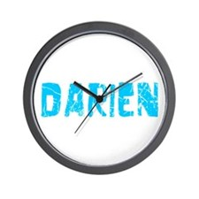 Darien Faded (Blue) Wall Clock
