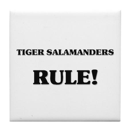 Tiger Salamanders Rule Tile Coaster