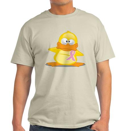 Pink Ribbon Duck Light T-Shirt
