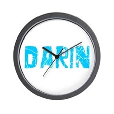 Darin Faded (Blue) Wall Clock