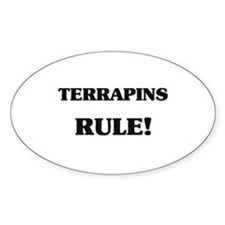 Terrapins Rule Oval Decal