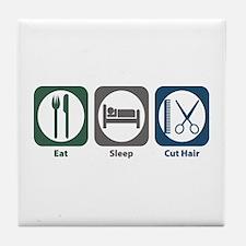 Eat Sleep Cut Hair Tile Coaster