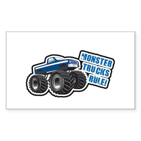 Blue Monster Truck Rectangle Sticker