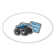 Blue Monster Truck Oval Decal
