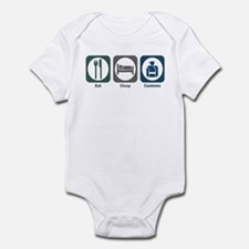 Eat Sleep Customs Infant Bodysuit