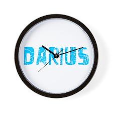 Darius Faded (Blue) Wall Clock