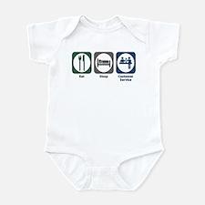 Eat Sleep Customer Service Infant Bodysuit