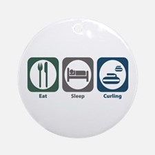 Eat Sleep Curling Ornament (Round)