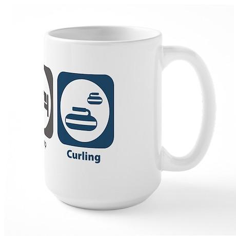 Eat Sleep Curling Large Mug