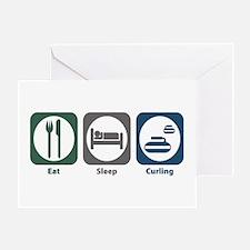 Eat Sleep Curling Greeting Card