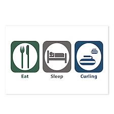 Eat Sleep Curling Postcards (Package of 8)