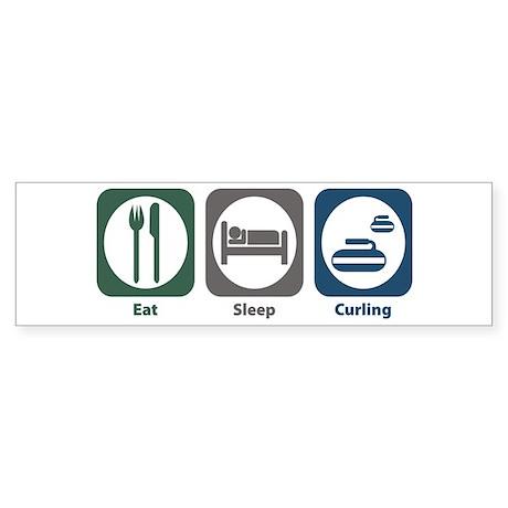 Eat Sleep Curling Bumper Sticker