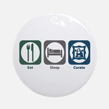 Eat Sleep Curate Ornament (Round)
