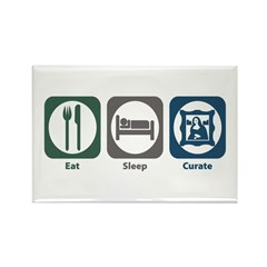 Eat Sleep Curate Rectangle Magnet (100 pack)