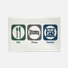 Eat Sleep Curate Rectangle Magnet